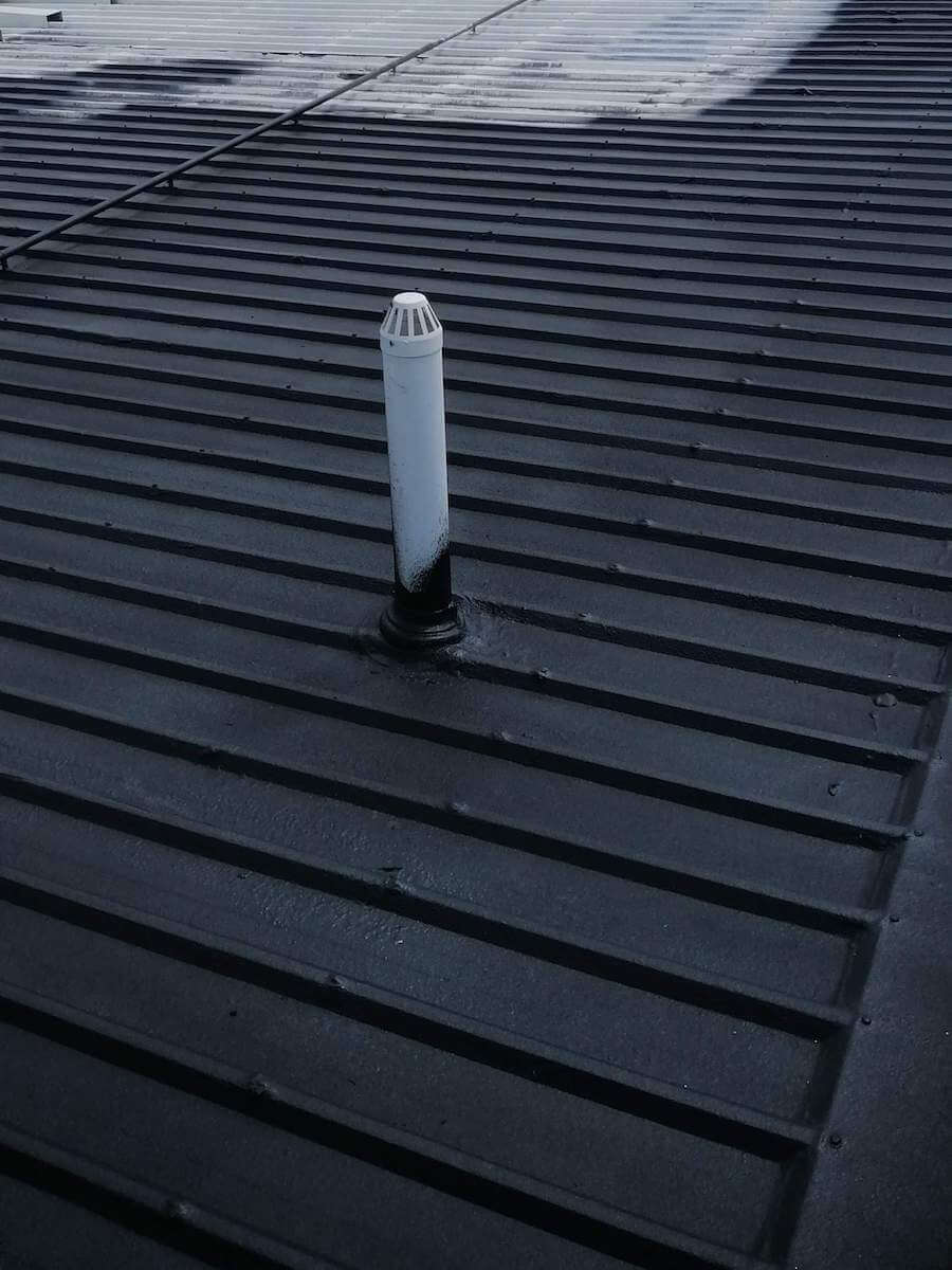 Roof after sealing